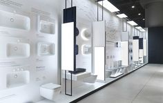 The main idea of Kale exhibition design, which was design and applied by Demirden Design, is to make visitors live the creative atmosphere that design. Layout Design, Design Blog, Booth Design, Store Design, Design Trends, Bath Showroom, Kitchen Showroom, Showroom Interior Design, Furniture Showroom