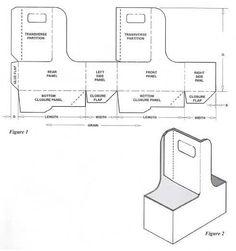 carton box template | Corrugated and folding carton box templates