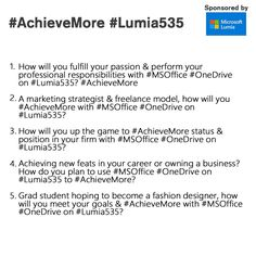 In case you've missed out any questions, have a look at them again to stand a chance to WIN #Lumia535. #AchieveMore