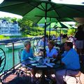 (25) Dine at Stafford's Weathervane Restaurant on Jeff's Deck and watch the boats cruise under the bridge.
