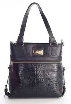 Bolsa duas em uma de couro Andrea Vinci preta - Enluaze - Bolsas, mochilas, roupas e acessórios