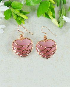 Wildflower Heart Earrings in Rose Gold | Sivalya