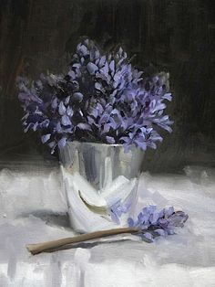 """Nicky Philipps: """"Milly's pot"""", oil on canvas."""