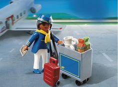 Playmobil 4761 - Letuška se servisním vozíkem