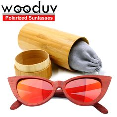 44.00$  Buy now - http://ali429.worldwells.pw/go.php?t=32727363972 - steampunk oversized red glasses UV400 gafas de sol polarizadas bamboo sunglasses gold wood glasses frames for women 44.00$