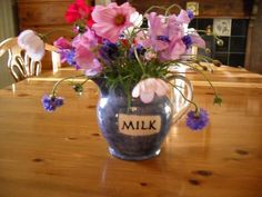 Emma Bridgewater Blue Stipple MILK Jug