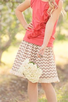 Persnickety Clothing -  Reversible Skirt Pink