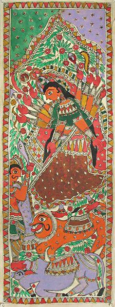 Durga - Madhubani Folk Art