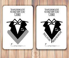 kartka zdrapka garnitur dla świadka Playing Cards, It, Wedding, Valentines Day Weddings, Playing Card Games, Weddings, Marriage, Game Cards, Playing Card