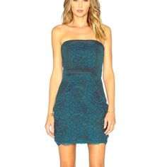 Lovers and friends dress Beautiful jade lace dress... Perfect condition Lovers + Friends Dresses Mini