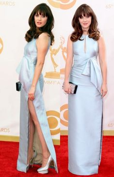 Absolutely loved Zooey's Emmy look. Zooey Deschanel's J Mendel gown at the Emmy Awards 2013