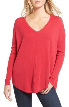 Free shipping and returns on Trouvé 'Everyday' V-Neck Sweater at Nordstrom.com. A relaxed silhouette lends everyday ease to a cashmere-kissed sweater styled with fitted rib-knit sleeves and an elegant V-neckline.