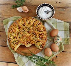 Húsvéti sonkás csigatorta My Recipes, Cooking Recipes, Xmas Food, Easter Dinner, Apple Pie, Waffles, Breakfast, Desserts, Blog