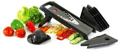 Mandoline Slicer - Professional Grade 5-in-1 Vegetable Julienne Cutter - Superior To Most Kitchen Utility Knives, Peelers, Graters, Slicers And Tool Sets - Easier To Clean Than Food Processors