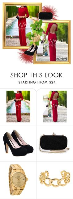 """Romwe 5"" by magicofthemoment ❤ liked on Polyvore featuring Rolex"