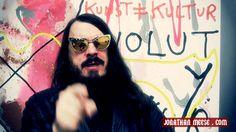 Jonathan Meese zum Literaturfest München 2014 Jonathan Meese, Kurt Cobain, Round Sunglasses, Cool Art, Movie Posters, Style, Fashion, Swag, Moda