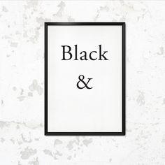 "Typoposter ""schwarz, weiß"" // typo print, ""black & white"" by This is it. via DaWanda.com"