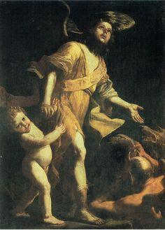 Mattia Preti (1613-1699), El Ángel de la Guarda, c. 1660, Capilla de los Dolores de la Catedral de Sevilla Painting, Tela, Painting Art, Paintings, Painted Canvas, Drawings