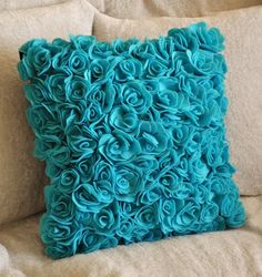 Shop for pillows on Etsy, the place to express your creativity through the buying and selling of handmade and vintage goods. Shades Of Turquoise, Turquoise Color, Diy Pillows, Decorative Pillows, Sofa Pillows, Cushions, Turquoise Bedding, Turquoise Throw Pillows, Blue Pillows