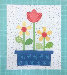 Bee In My Bonnet: Bee Happy Sew Along - Week Eight!!  Flower Box Block