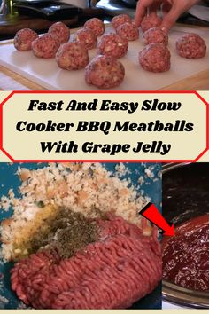 #Fast #Easy #Slow #Cooker #BBQ #Meatballs #Grape #Jelly