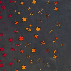 HANDCRAFTED by Alison Glass for Andover Fabrics - Petal (Charcoal, 7395-C) - 1 Yard - Quilting Weight Cotton