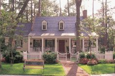 Houseplans.com Country / Farmhouse Front Elevation Plan #137-140