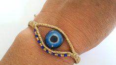 Items similar to Macrame Bracelet, Evil Eye Bracelet on Etsy Hemp Jewelry, Silverware Jewelry, Macrame Jewelry, Unique Jewelry, Chevron Friendship Bracelets, Friendship Bracelets Tutorial, Loom Bracelets, Macrame Bracelets, Macrame Knots