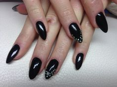 Black/Strass/oval