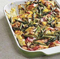 Asparagus, Ham and Mushroom Strata - #mothersday #brunch #yum