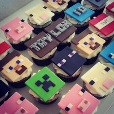 Minecraft fondant toppers by DsCustomToppers on Etsy, $24.99