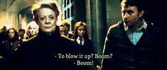 Professor Minerva McGonnegal and Neville Longbottom, Harry Potter series