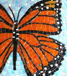 This Monarch butterfly is the centerpiece of a larger mosaic in the butterfly garden at Bee Cave Elementary.     http://www.GraphicDesignNYC.net