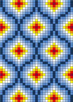 Free cross stitch pattern or tapestry crochet Broderie Bargello, Bargello Needlepoint, Bargello Quilts, Bargello Patterns, Tapestry Crochet Patterns, Bead Loom Patterns, Doily Patterns, Quilt Pattern, Dress Patterns