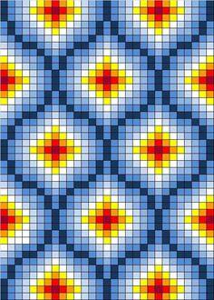 Free cross stitch pattern - 131. Light in lattice