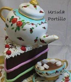 Tea-pot Cake by amy.shen