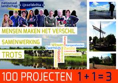 Projectbord Nationaal Landschap IJsseldelta, A1 formaat.