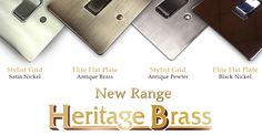 Heritage Brass have a new range and it's available on our site. Head over and have a look. Online Lighting Stores, Range, Brass, Cookers, Ranges, Range Cooker, Copper, Rice
