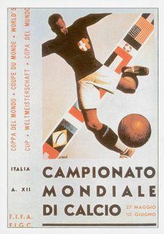 Poster oficial da Copa do Mundo de 1934   Official poster of the 1934  Football World Cup. be748ca8017b1