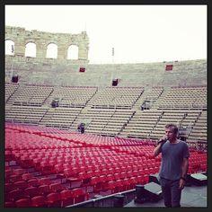 #ligainarena #arena2013 #16settembre Soundcheck in corso