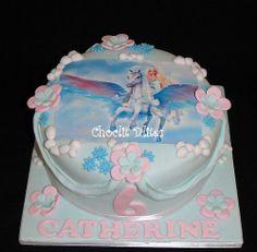 Birthday cake for Catherine who is turning Chocolate sponge, fondant, edible print - design not my own. Photo Cakes, 6th Birthday Cakes, Edible Printing, Chocolate Sponge, Fondant, Desserts, Food, Tailgate Desserts, Deserts