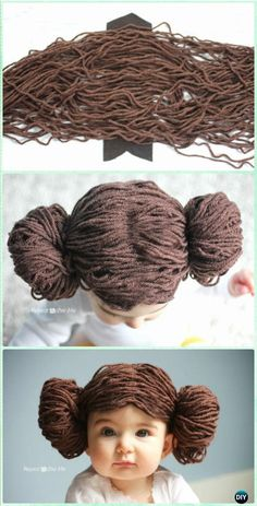 DIY Princess Leia Yarn Wig Instruction - Yarn Crafts No Crochet