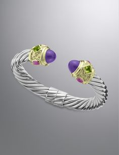 David Yurman - Renaissance Bracelet, Amethyst, 10mm. Find this piece and more at G. Thrapp Jewelers!