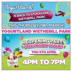 """@yogurtlandau's photo: """"Yogurtland #WetherillPark is back with 2 big dates!! - This Thursday, 19th March we will be reopening at the new Stockland precinct, opposite Hoyts Cinema! - 9th April, come for the reopening party with #free frozen yogurt from 4 to 7pm and much more!  Stay tuned and enjoy!  #froyo #delicious"""""""