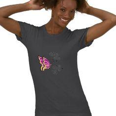 Butterfly and Swirls Shirt by elenaind