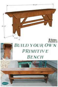 ART IS BEAUTY: Build Your Own PRIMITIVE Bench