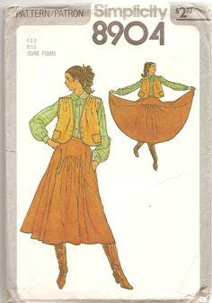 1970' Patron Simplicity 8904 Veste Jupe évasée Patron de couture rétro vintage Taille 6 & 8 Misses mode vêtement femme by aBirdOnMyHead on Etsy