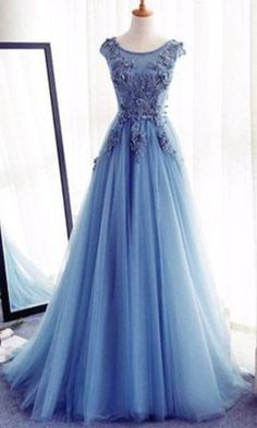 Appliques A-Line Prom Dresses,Long Prom Dresses Cheap Prom #prom #promdress #dress #eveningdress #evening #fashion #love #shopping #art #dress #women #mermaid #SEXY #SexyGirl #PromDresses