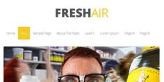 FreshAir it's a lightweight wordpress theme, that will run and load very fast, because it was built that way. Download it for free at HeroWP.com