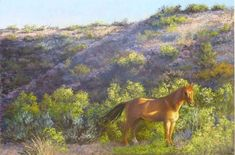 Sunlit Dun - Original Pastel by Skeeter Leard of Socorro, NM.  In the Women Artists of the West Show at RS Hanna Gallery, Fredericksburg, TX.